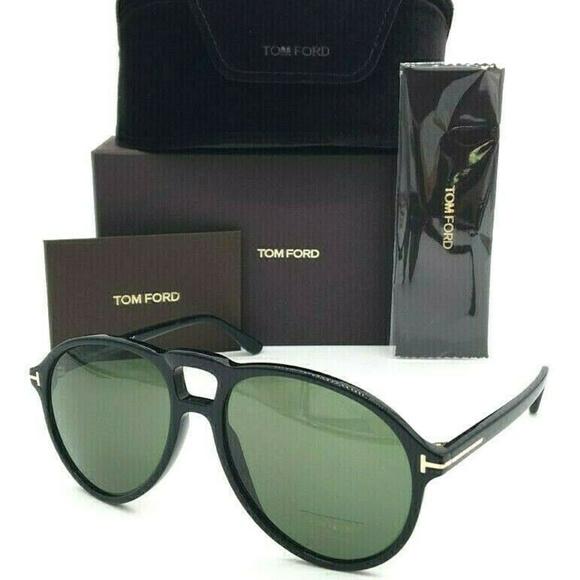 Tom Ford Other - Tom Ford Lennon-02 TF0645 01N Shiny Black / Green